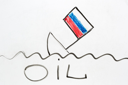 russian ship sinking as a symbol of Russian economy falling down