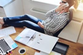 Relaxed confident female entrepreneur
