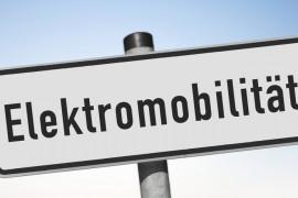 Metallschild Elektromobilität